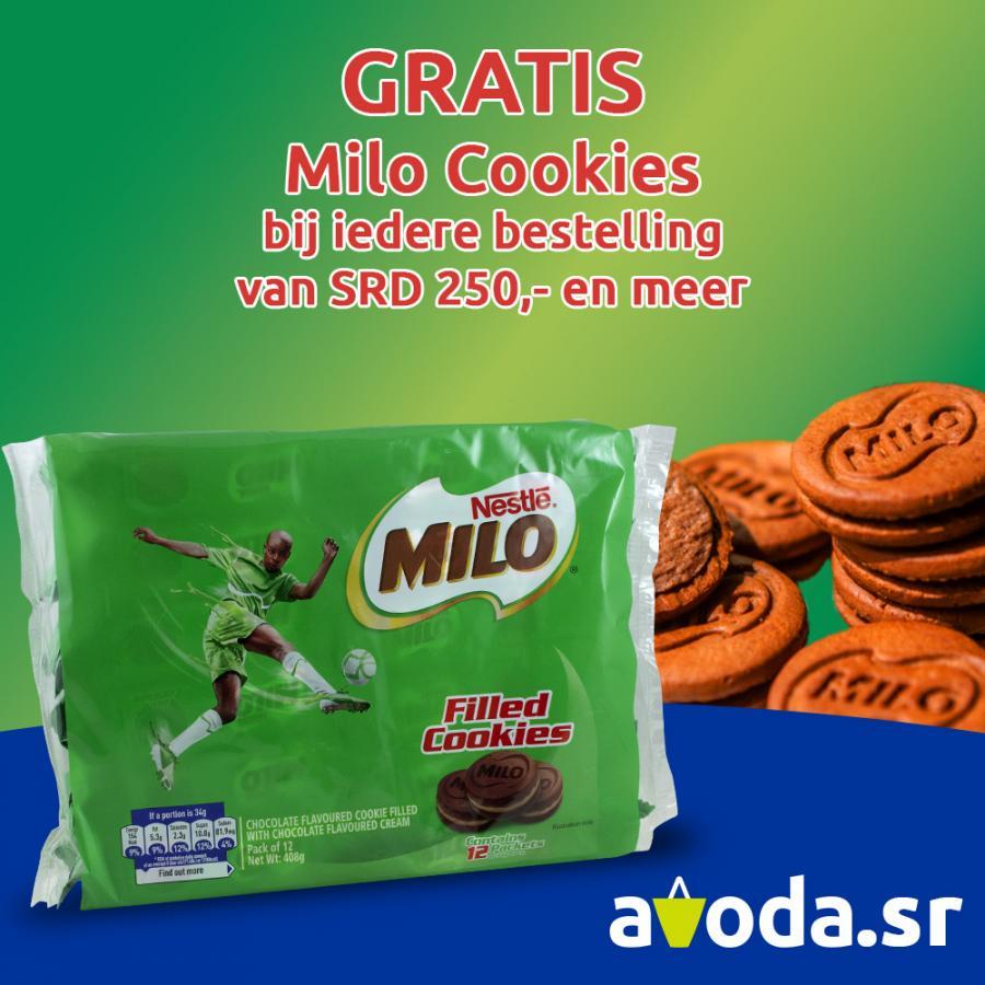 Gratis Milo Cookies